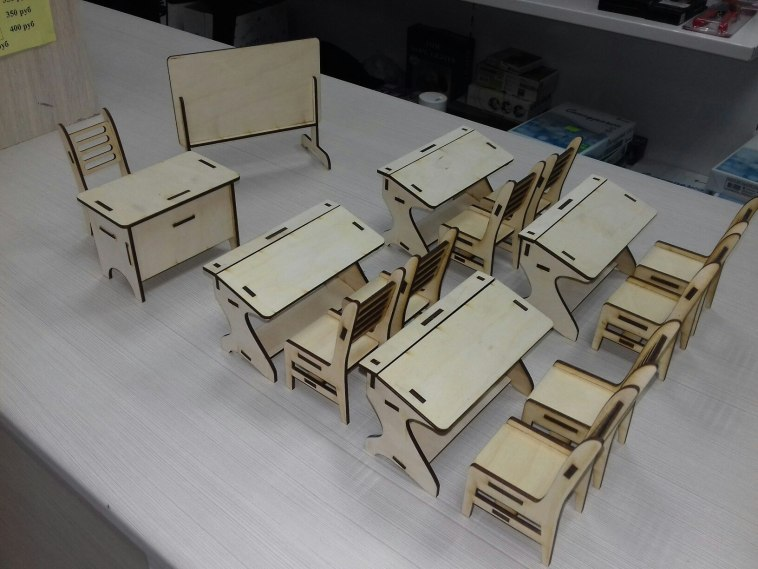 Laser Cut Miniature Classroom Furniture Free Vector CDR File