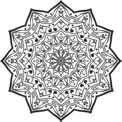Luxury Mandala Design for Print Or Laser Engraving Machines DXF File