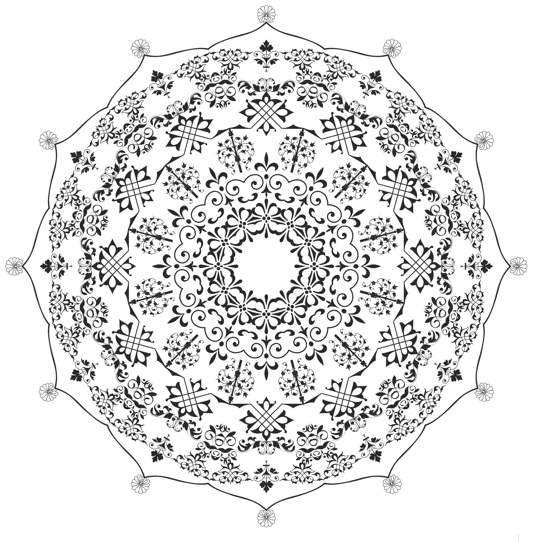 Mandala De Ornament CDR File
