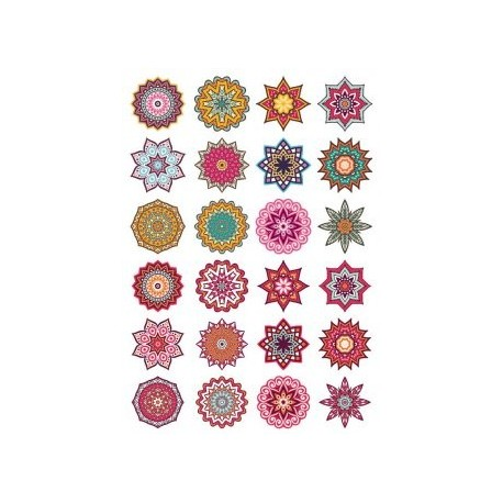 Mandala Decorative Elem 9 CDR File