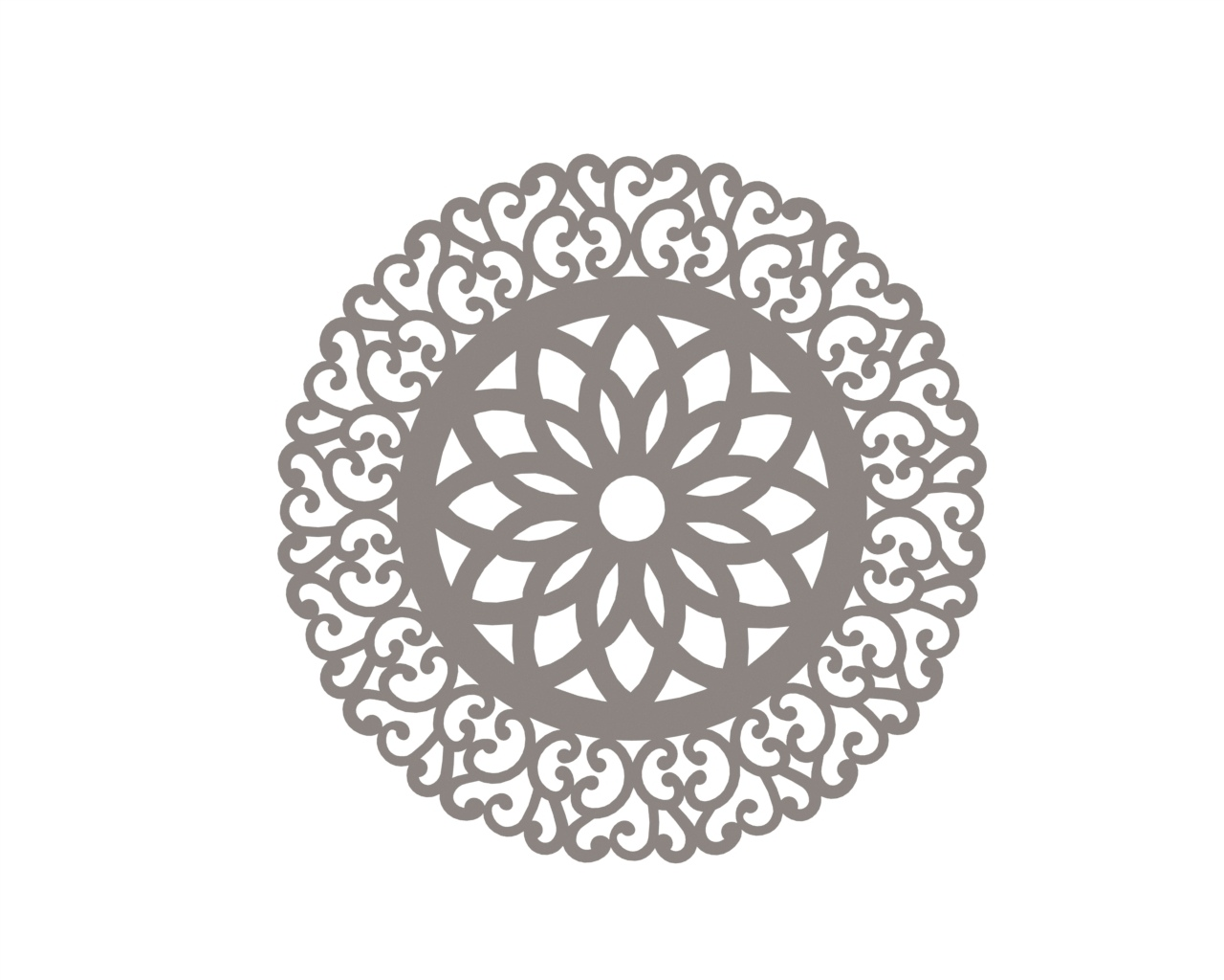 Mandala of circle art Ornament CDR File