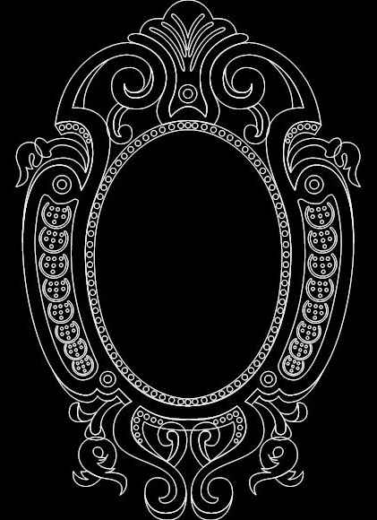 Mirror Frame 0554 Free DXF Vectors File