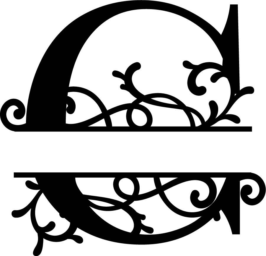Download Split Monogram Letter C Free DXF Vectors File Free ...