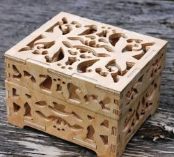 Thick wooden Box for Laser Cut CNC DXF File