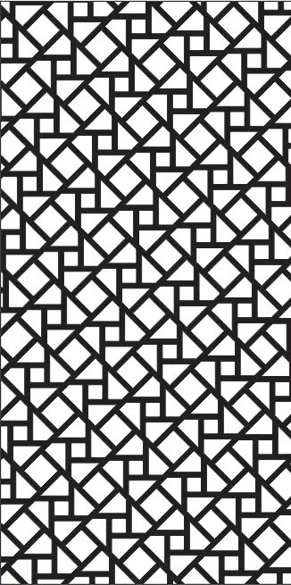 Triangle Patterns for Partition Vector for CNC DXF Vectors File