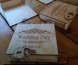 Wedding Box with lock for Laser Cut DXF File