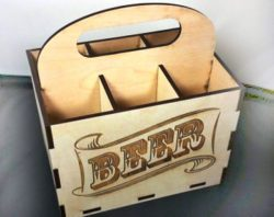wooden Box for beer for Laser Cut CNC DXF File