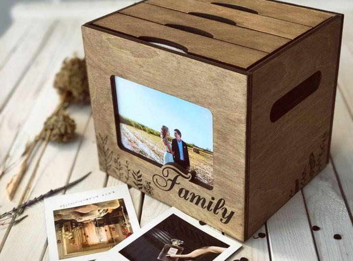 Wooden Photo Album Box Laser Cut Free CDR File